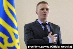 Голова Донецької обласної військово-цивільної адміністрації Олександр Куць. Краматорськ, 22 червня 2018 року