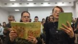Russia -- Jehovah's Witnesses - The congregation sings hymns during the service. April 22, 2017