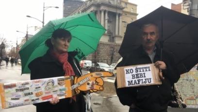 Beograd, protest roditelja nestalih beba, 24. decembar, 2018.