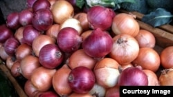 Onions at a food market in Iran. File photo