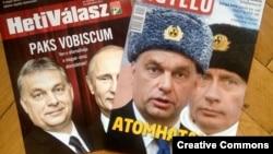 Naslovnice mađarskih listova - Viktor Orban i Vladimir Putin