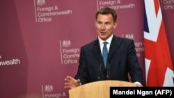 British Foreign Secretary Jeremy Hunt
