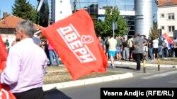 Dveri na protestu u Beogradu, fotoarhiv