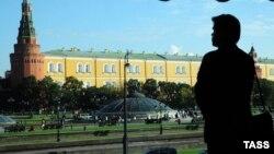 Кремль мен Манеж алаңы. Мәскеу, Ресей. (Көрнекі сурет)