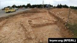 Археологические раскопки на территории хоры Херсонеса (надел 149). Севастополь, Гагаринский район, декабрь 2018 года