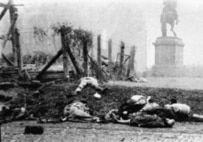 Bodies on a Budapest street after the suppression of the Hungarian Uprising (ITAR-TASS)