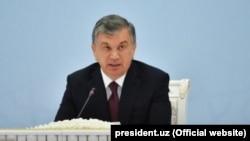 Ўзбекистон президенти Шавкат Мирзиёев.