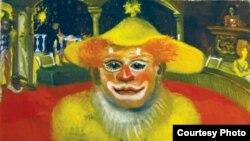 Картина Хикмата Гулямова «Клоун на манеже», 1976 год.