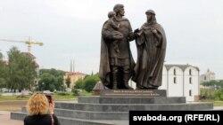Помнік Аляксандру Неўскаму, яго жонцы Аляксандры і сыну Васілю ў Віцебску