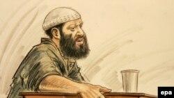 Закариус Муссауи, единственный обвиняемый в причастности к терактам 9/11, выступает в зале суда