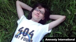 Yelena Klimova, the journalist who runs the Children-404 online support group for LGBT teenagers. (file photo)