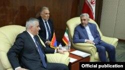 Iran -- Iranian Energy Minister Reza Ardakanian (R) meets with Armenia's Deputy Prime Minister Mher Grigorian, Tehran, July 2, 2019.