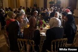 АКШ президенты Барак Обама Ай Йортта ифтарда, 2015 ел