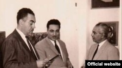 حافظ الدروبي، نوري الرواي ، اسماعيل الشيخلي في افتتاح احد المعارض الفنية بالمتحف الوطني للفن الحديث