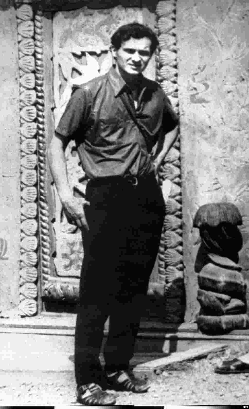 Palach in the summer of 1968 in Samarkand, Uzbekistan. He studied history at Charles University in Prague.