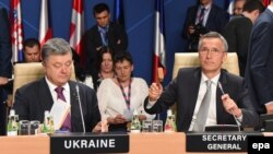 Надежда Савченко на саммите НАТО в Варшаве