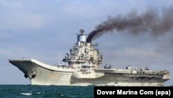 «Адмірал Кузнецов» під час походу до берегів Сирії