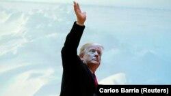 Дональд Трамп прибыл на Всемирный экономический форум в Давосе, 26 января 2018 года