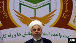 Iranian President Hassan Rohani chairs the 28th International Islamic Unity Conference in Tehran on January 7.