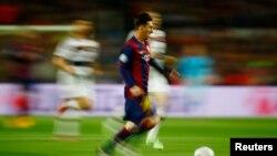 Lionel Messi në aksion.