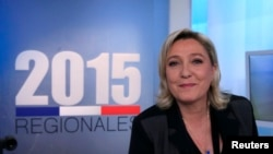 Марин Ле Пен, лидер ультраправых, считалась одним из фаворитов выборов