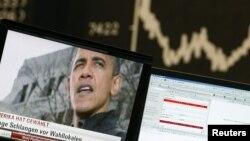 Индекс цен на торговой бирже во время президентских выборов в США.