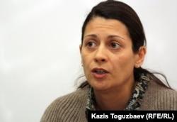 Татьяна Молдашева, жена Аскара Молдашева. Алматы, 5 ноября 2012 года