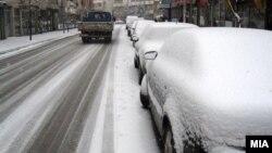 Архивска фотографија: Снег во Гостивар.