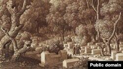Карл фон Кюгельген. Караимское кладбище на Чуфут-Кале, 1824 год