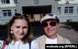 Алена Шабуня (зьлева) і Тацяна Севярынец