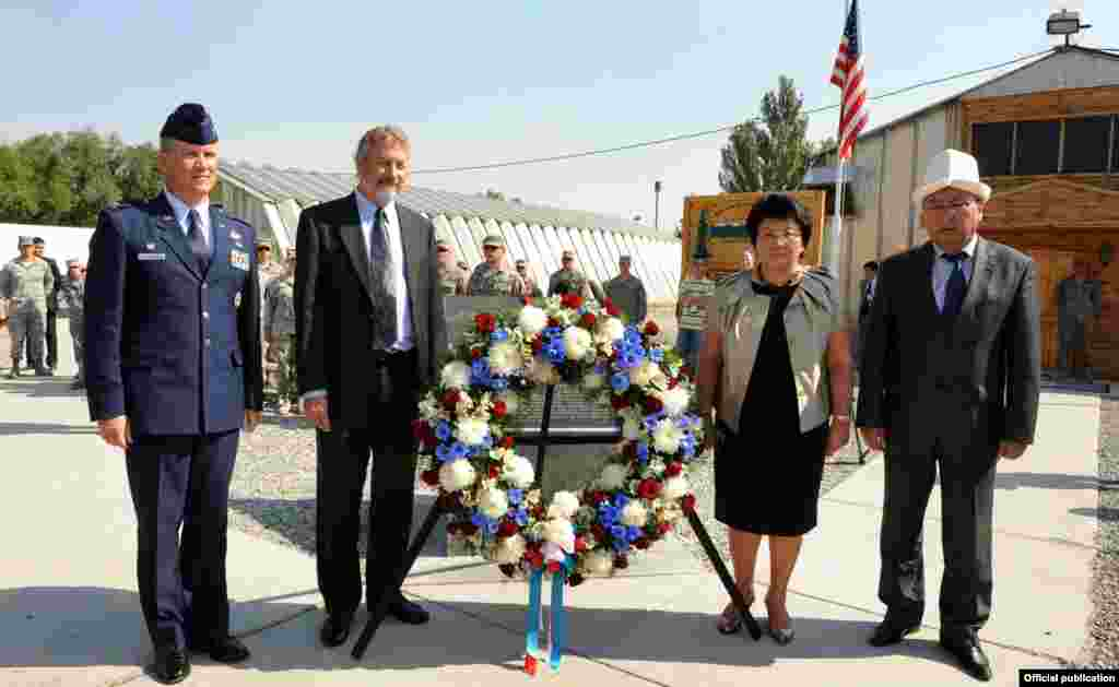 The September 11 attacks are commemorated at Manas Transit Center near Bishkek, Kyrgyzstan.