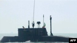 An Iranian submarine during maneuvers (file photo)