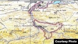 Анклав Ворух на советской карте.