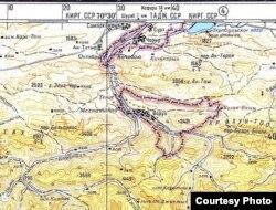 Так показує місце конфлікту стара радянська мапа