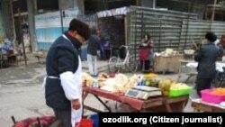 На дехканском рынке в Коканде.