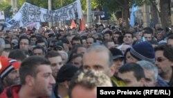 Sa protesta u Podgorici u januaru 2012.