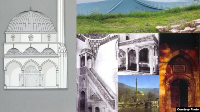 Aadža džamija u Foči - kombo fotografija