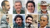 Iranian Environmental activists who have been jailed in recent months (from top-left clockwise): Sam Rajabi, Houman Jowkar, Niloufar Bayani, Morad Tahbaz , Kavous Seyed-Emami (died in detention), Taher Ghadirian, Amir Hossein Khaleghi, and Sepideh Kashani -