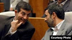 Iran's President, Mahmoud Ahmadinejad (right) and his new vice president, Esfandiar Rahim-Mashaei