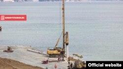 Будівництво Керченського моста, архівне фото