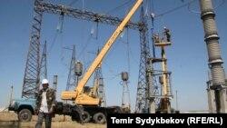 Кыргызстандагы электр линиялары. Иллюстрациялык сүрөт.