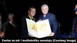 Omer Karabeg i Safet Oručević na uručenju nagrade za mir