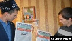 Наил Нәбиуллин (с) һәм журналист Рафыйк Кәримулла
