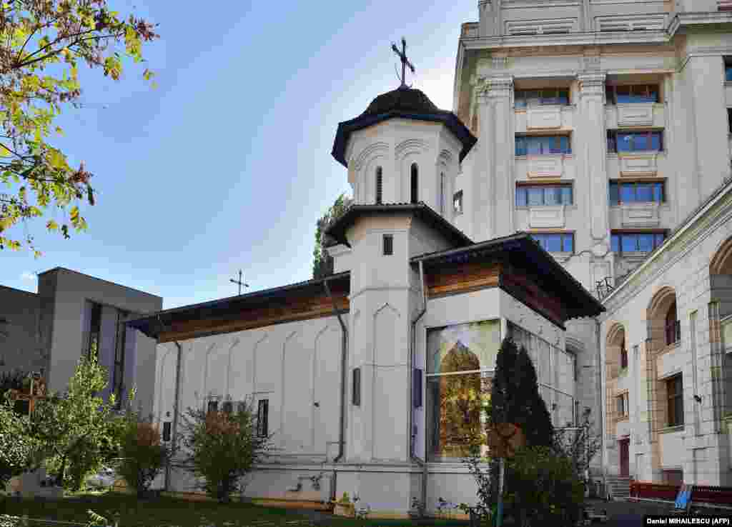 Schitul Maicilor Church in Bucharest on October 30, 2017.