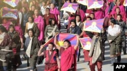 تظاهرات روز جمعه شديدترين تظاهرات در تبت طی ۵۰ سال گذشته گزارش شده است.( عکس: AFP)