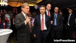 Американский посол и грузинский премьер вместе наблюдали за выборами