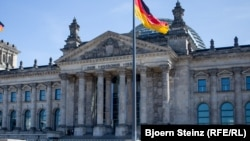 Здание Рейхстага в Берлине.
