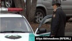 Полиция в городе Талдыкоргане. Иллюстративное фото.