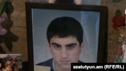 Զոհված զինծառայող Աղասի Աբրահամյանի դիմանկարը