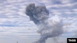 Shpërthimi afër Fabrikës Kimikale, sot, në Donetsk.
